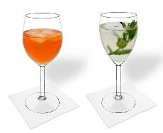 Rot- und Weissweinglas