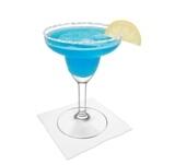Blue Margarita Zubereitung: Servieren