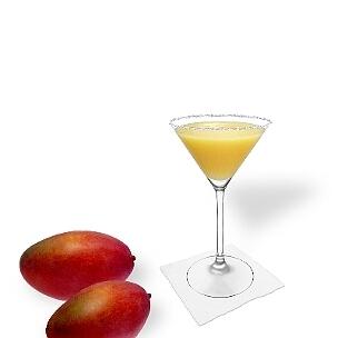 Für einen Zucker oder Salzrand ist das Martini-Glas mit seinem langen und dünnen Glasrand ideal.