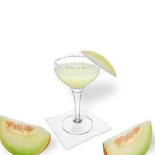 Eine weitere grossartige Option für Frozen Melon Margarita, eine Cocktailschale.