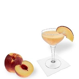 Eine weitere grossartige Option für Pfirsich Margarita, eine Cocktailschale.