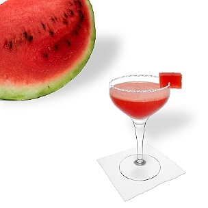 Eine weitere grossartige Option für Frozen Watermelon Margarita, eine Cocktailschale.