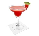 Frozen Watermelon Margarita Zubereitung: Servieren