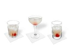 Verschiedene Gin Sour Dekorationen