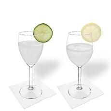 Margarita im Weiss- und Rotweinglas