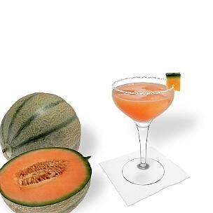 Eine weitere grossartige Option für Melonen Margarita, eine Cocktailschale.