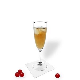Ohio im Champagnerglas, die übliche Art diesen leckeren Champagner-Cocktail zu servieren.