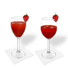 Erdbeer Margarita im Weiss- und Rotweinglas
