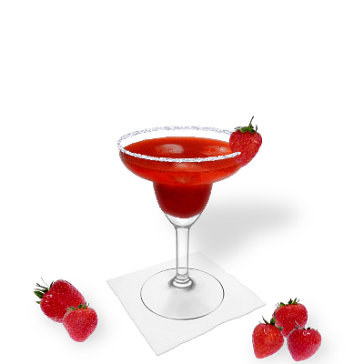 Strawberry Margarita mit individueller Dekoration