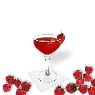 Eine weitere grossartige Option für Erdbeer Margarita, eine Cocktailschale.