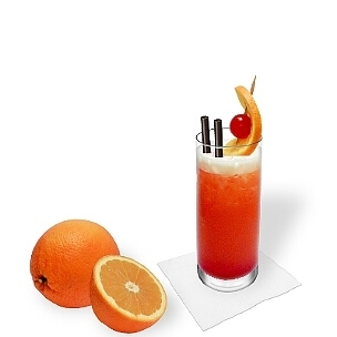 Alle Longdrinkgläser eignen sich für Tequila Sunrise.