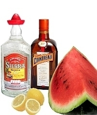 Watermelon Margarita Zutaten: Mit frischer Wassermelone (standard)